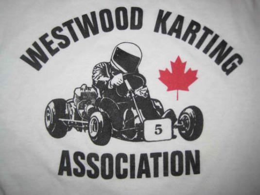 Vintage 1980's Canadian kart racing raglan t-shirt, L XL