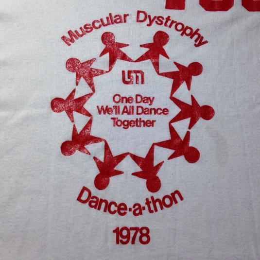 Vintage 1970's Dance-A-Thon t-shirt