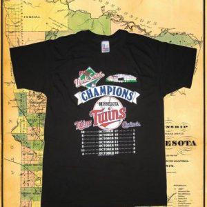 Vintage 1987 Minnesota Twins vs Cards t-shirt, deadstock