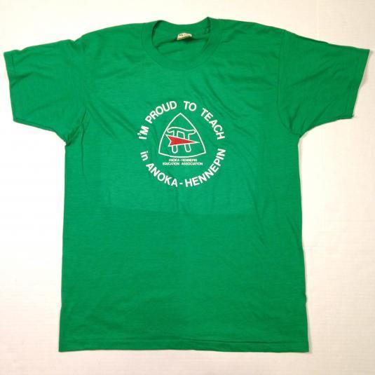 Vintage 1980's Minnesota teacher pi t-shirt