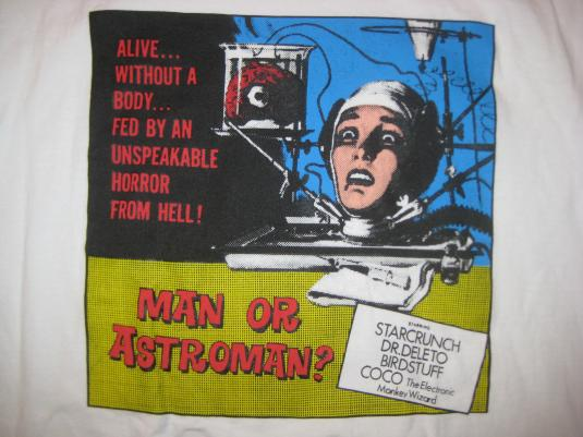 Vintage 1990's Man Or Astroman t-shirt, L-XL