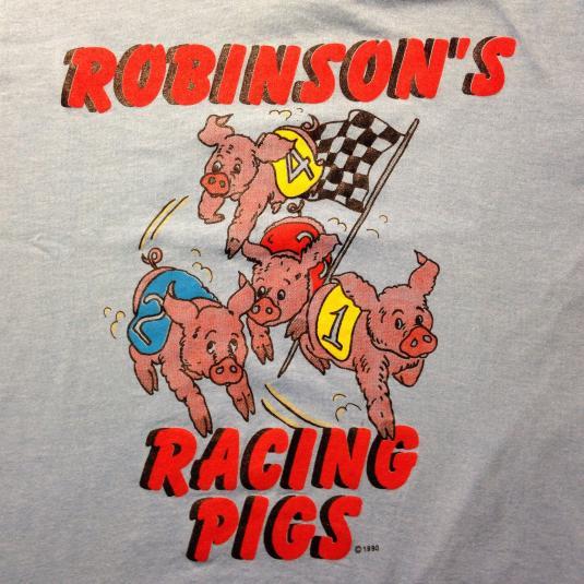 Vintage 1990 Robinson's Racing Pigs t-shirt