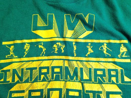 Vintage 1980's UW Intramural Sports Champion t-shirt