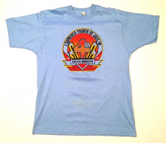 Vintage 1980's 4th of July Eveleth, Minnesota t-shirt