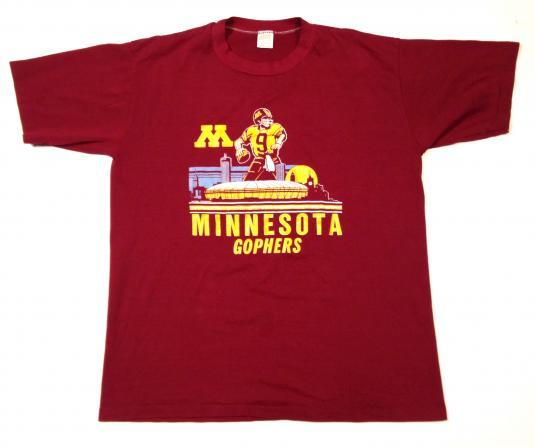 Vintage 1980's University of Minnesota football t-shirt
