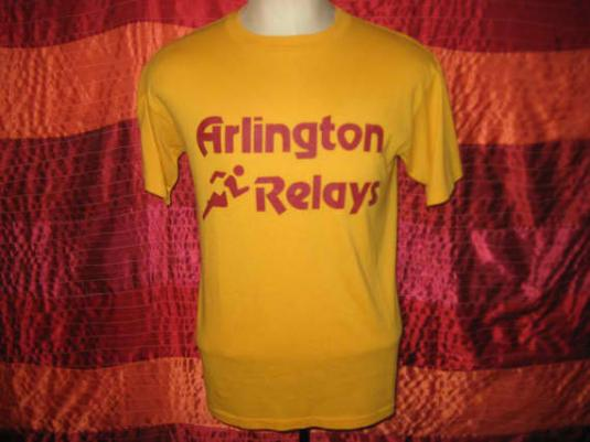 Vintage 1980's relay race t-shirt, soft and thin, M L