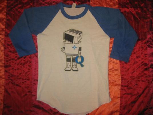 Vintage 1980s wicked sweet robot raglan t-shirt, XS S