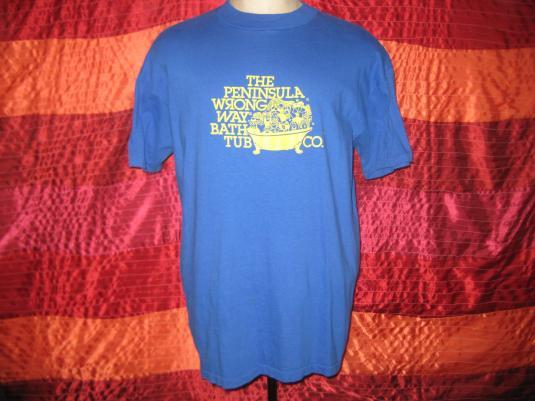 Vintage 1980s Wrong Way Bathtub Company t-shirt, XL