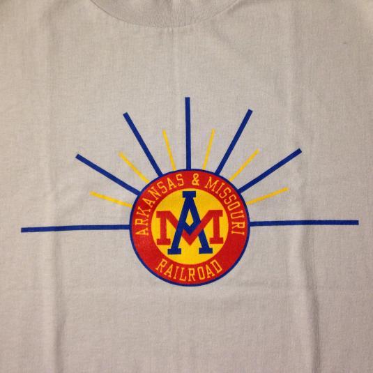 Vintage 1980's Arkansas And Missouri Railroad t-shirt