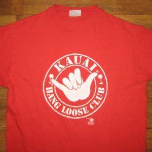 Vintage 1980's Hawaii hang loose club surfing t-shirt
