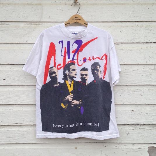 Vintage 1992 U2 Achtung Baby Zoo TV tour t-shirt