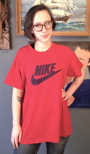 Vintage 1980's Nike blue tag t-shirt