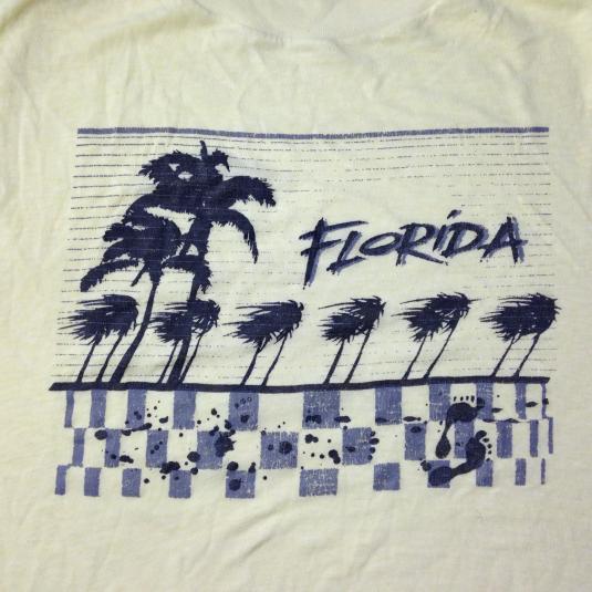 Vintage 1980's Florida soft & thin t-shirt