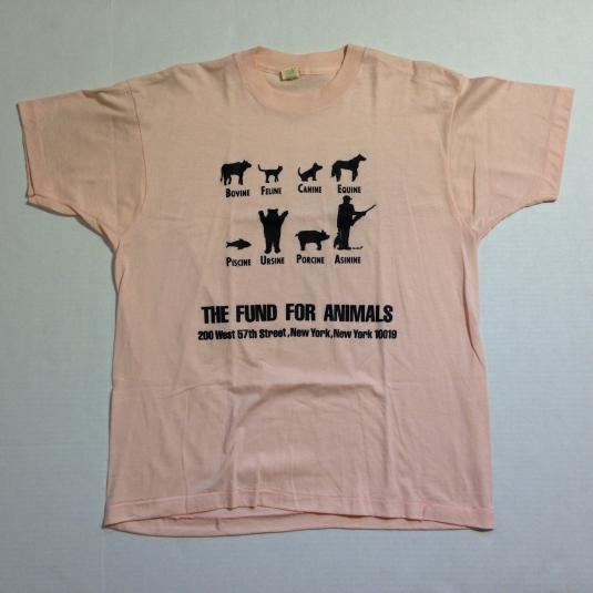 Vintage 1980's anti-hunting animal rights t-shirt
