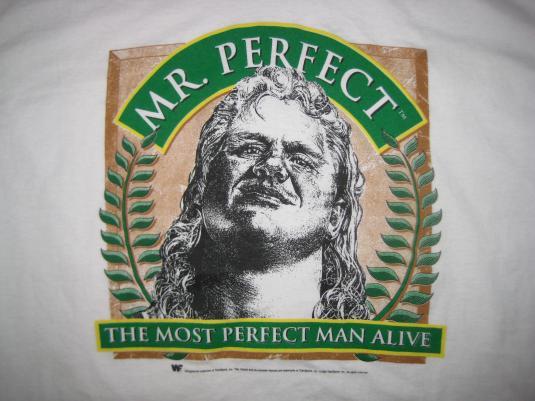 Vintage Mr. Perfect WWF t-shirt, XL
