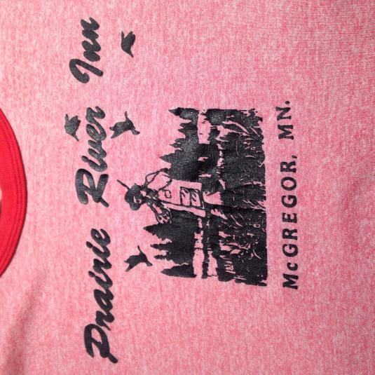 Vintage 1980s rayon blend triblend Prairie River Inn t-shirt