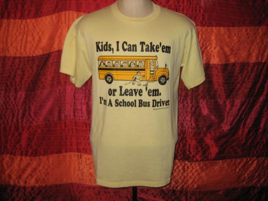 Vintage 1980s School bus driver t-shirt, XL