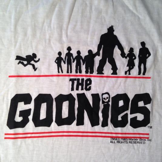 Vintage 1985 The Goonies movie t-shirt