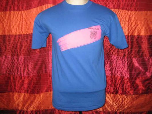 Hawaiian alcoholic drink iron-on vintage 1980's t-shirt, M