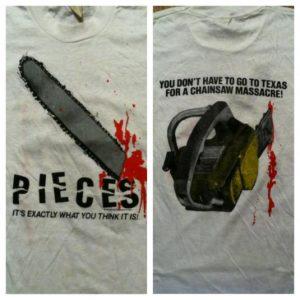 Vintage 1983 Pieces horror movie t-shirt