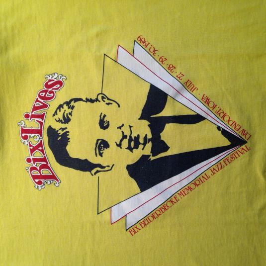Vintage 1989 Bix Beiderbecke Jazz Festival t-shirt