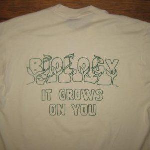 Vintage Late 1980's nerdy biology t-shirt, XL