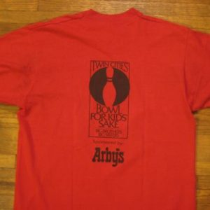 Vintage Late 1980's Arby's Bowl for Kids' Sake t-shirt