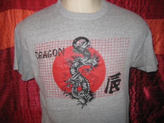Vintage 1980s Chinese dragon t-shirt, L XL