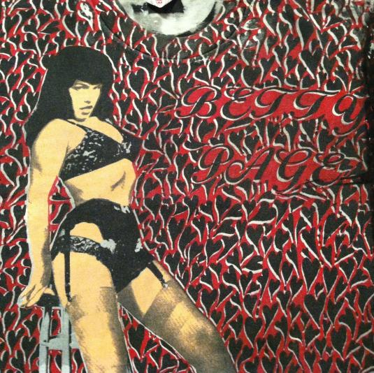 Vintage Bettie Page Mosquitohead pin-up rockabilly t-shirt