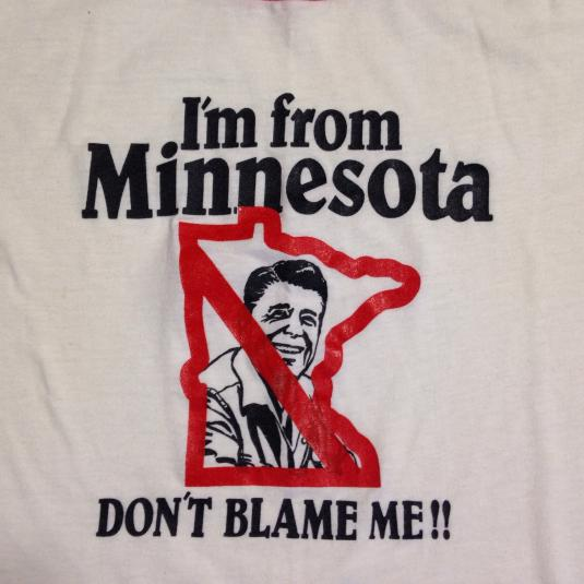 Vintage 1980's anti Ronald Reagan Minnesota t-shirt