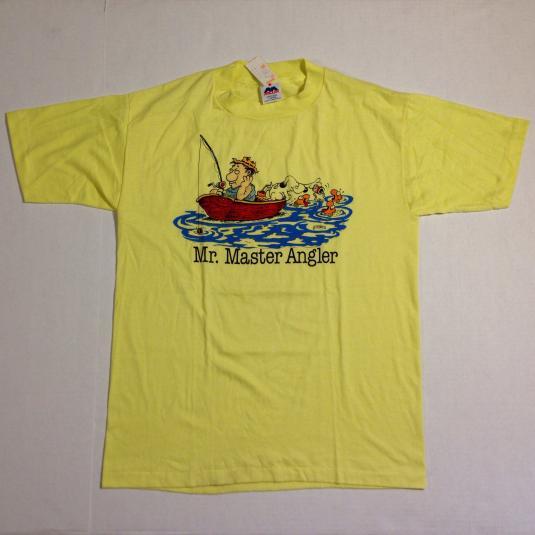 Vintage 1980's deadstock funny fisherman t-shirt
