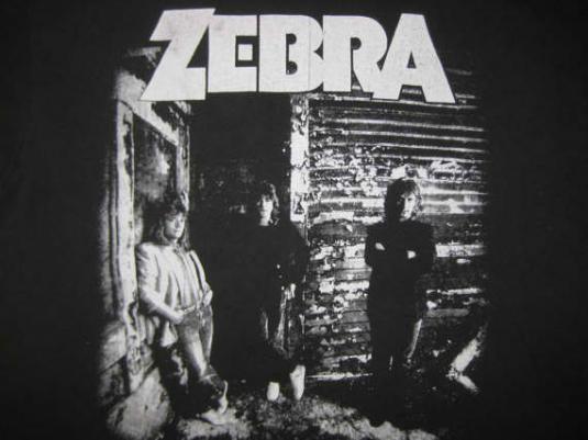 Vintage 1986 Zebra 3.V t-shirt