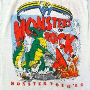 Vintage Monsters of Rock Van Halen Metallica Dokken t-shirt