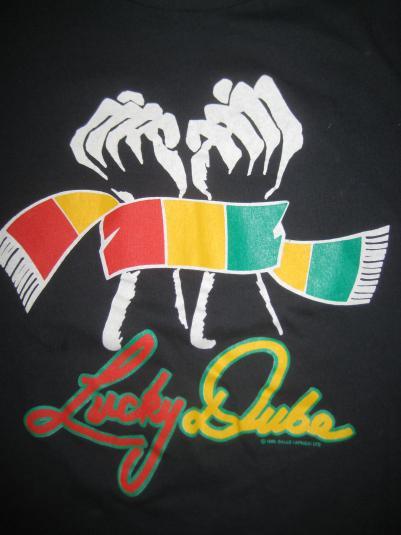Vintage 1989 Lucky Dube t-shirt, reggae concert