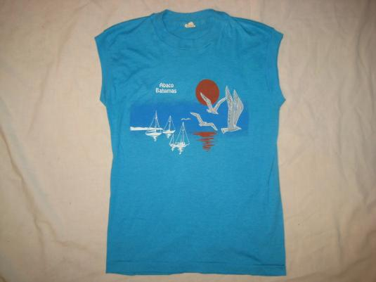 Vintage 1980s Bahamas sleeveless t-shirt, small