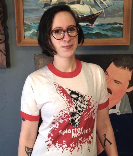 Vintage 1980's Splatter Movies horror t-shirt