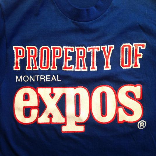 Vintage 1980's Property Of Montreal Expos t-shirt