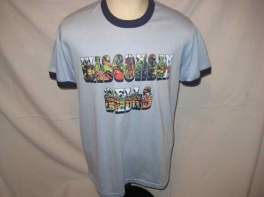 80's WI Dells ringer t-shirt,XL
