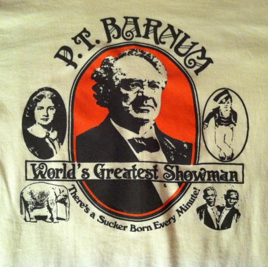 Vintage 1980's PT Barnum circus sideshow t-shirt
