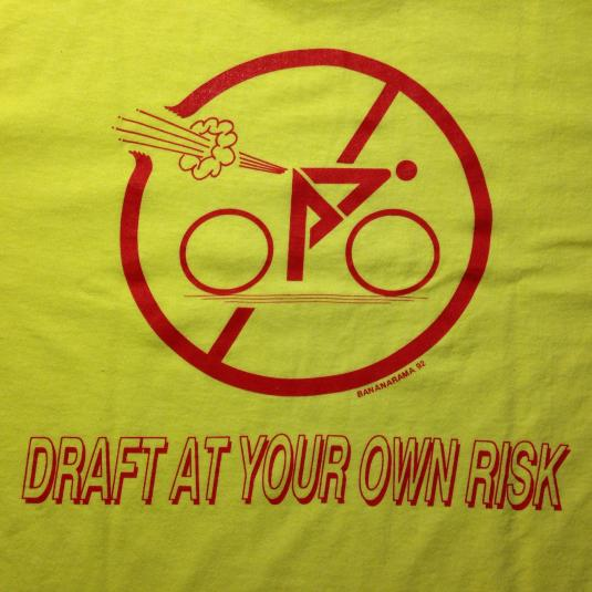 Vintage Hilarious 1992 no farting on a bicycle t-shirt