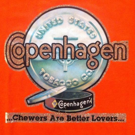 Vintage 1970's Copenhagen chewing tobacco iron-on t-shirt