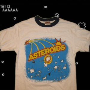 Vintage 1980's Asteroids video game t-shirt, S-M