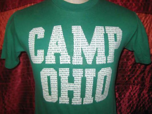 Vintage 1980's t-shirt, Camp Ohio, S M, soft and thin