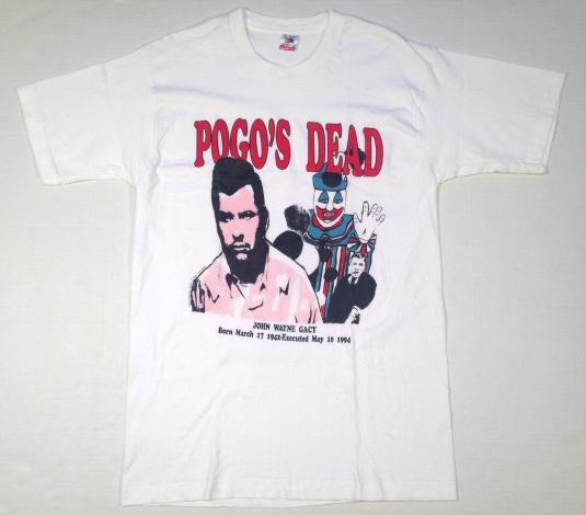 Vintage 1990's John Wayne Gacy serial killer t-shirt
