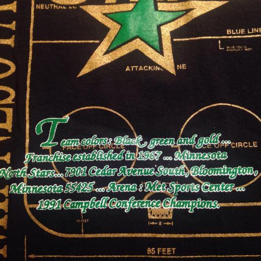 Vintage Early 90's Minnesota North Stars hockey t-shirt