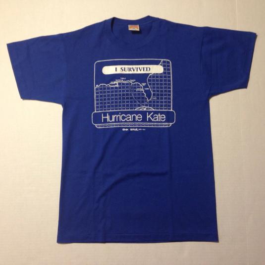 Vintage 1985 I Survived Hurricane Kate t-shirt