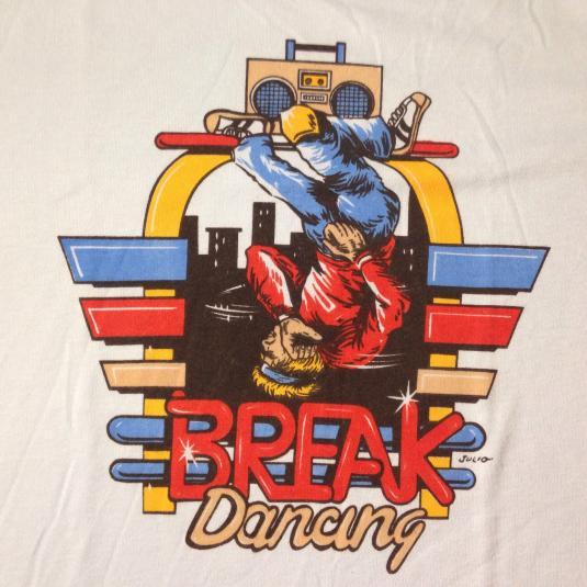 Vintage 1980's Break Dancing hip hop t-shirt