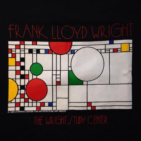 Vintage 1990's Frank Lloyd Wright Art Deco design t-shirt