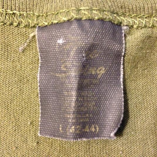Vintage 1980's olive green ARMY t-shirt