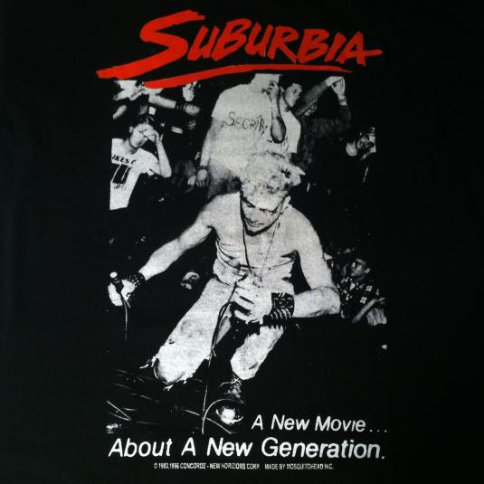 1996 Mosquitohead Suburbia punk movie The Vandals t-shirt